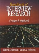 Handbook of Interview Research 1st edition 9780761919513 0761919511