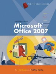 Performing with Microsoft Office 2007, Introductory 1st edition 9781423904212 1423904214