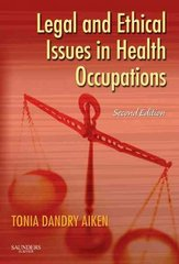 Legal and Ethical Issues in Health Occupations 2nd edition 9781416022626 1416022627