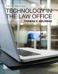 Technology in the Law Office 3rd Edition 9780132722995 0132722992