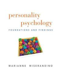 Personality Psychology 1st edition 9780205738878 0205738877