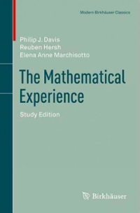 The Mathematical Experience 1st Edition 9780817682941 0817682945