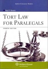 Tort Law for Paralegals 4th Edition 9781454808725 1454808721