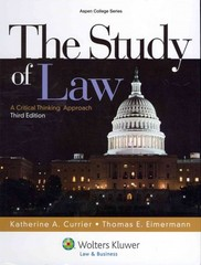 The Study of Law 3rd edition 9781454808756 1454808756