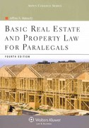 Basic Real Estate and Property Law for Paralegals 4th Edition 9781454808848 1454808845