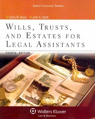Wills, Trusts, and Estates for Legal Assistants 4th edition 9781454808879 145480887X
