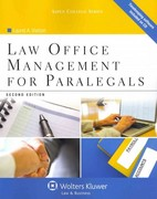Law Office Management for Paralegals 2nd Edition 9781454808992 1454808993