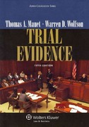 Trial Evidence 5th Edition 9781454810186 1454810181