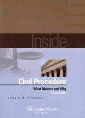 Inside Civil Procedure 2nd Edition 9781454810971 1454810971