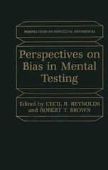 Perspectives on Bias in Mental Testing 0 9780306415296 0306415291