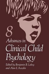 Advances in Clinical Child Psychology 0 9780306419638 0306419637