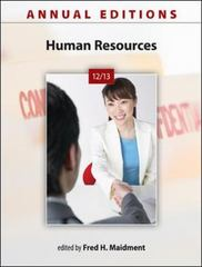 Annual Editions: Human Resources 12/13 21th Edition 9780073528717 0073528714