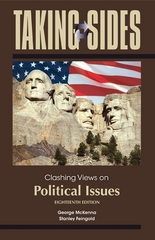 Taking Sides: Clashing Views on Political Issues 18th edition 9780078050329 0078050324