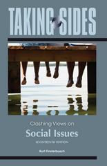 Taking Sides: Clashing Views on Social Issues 17th edition 9780078050336 0078050332