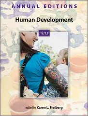 Annual Editions: Human Development 12/13 41th Edition 9780078051289 0078051282