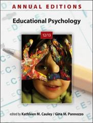 Annual Editions: Educational Psychology 12/13 27th Edition 9780078051296 0078051290