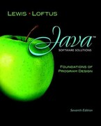 Java Software Solutions: Foundations of Program Design plus MyProgrammingLab with Pearson eText -- Access Card 7th edition 9780132760775 0132760770