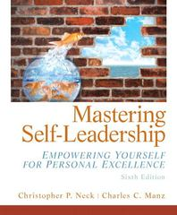 Mastering Self Leadership 6th Edition 9780133071559 0133071553