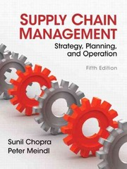 Supply Chain Management 5th Edition 9780133071504 0133071502