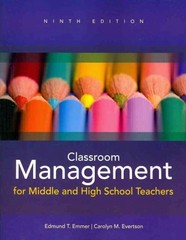 Classroom Management for Middle and High School Teachers 9th edition 9780133072334 0133072339