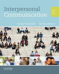 Interpersonal Communication 7th Edition 9780199827503 0199827508