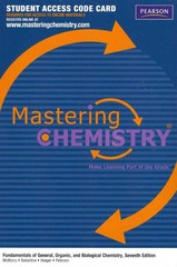 MasteringChemistry -- Standalone Access Card -- for Fundamentals of General, Organic, and Biological Chemistry 7th edition 9780321776143 0321776143