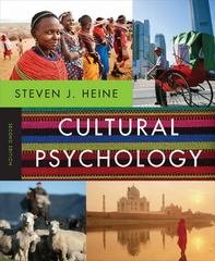 Cultural Psychology 2nd Edition 9780393912838 0393912833