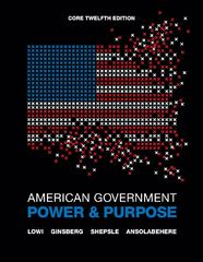 American Government 12th edition 9780393912098 0393912094