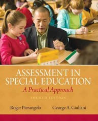 Assessment in Special Education 4th Edition 9780132613262 0132613263