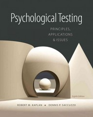 Psychological Testing 8th Edition 9781133492016 1133492010