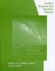 Student Resource and Solutions Manual for Zill's Differential Equations with Boundary Value Problems 8th Edition 9781133491958 1133491952