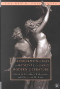 Representing Rape in Medieval and Early Modern Literature 1st Edition 9781137104489 1137104481