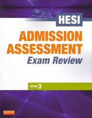 Admission Assessment Exam Review E-Book 3rd Edition 9781455738298 1455738298