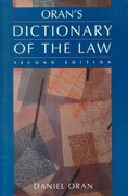 Oran's Dictionary of the Law 2nd edition 9780314846907 0314846905