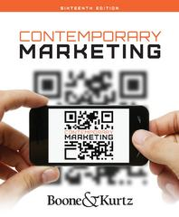 Contemporary Marketing 16th edition 9781133628460 113362846X