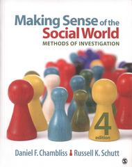 Making Sense of the Social World 4th Edition 9781452217710 1452217718