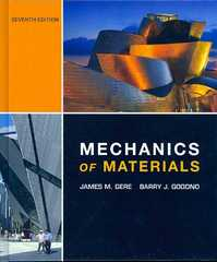 Mechanics of Materials 7th edition 9781111795917 1111795916