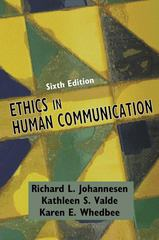 Ethics in Human Communication 6th Edition 9781577665557 1577665554