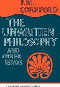 Unwritten Philosophy and Other Essays 0 9780521094443 0521094445