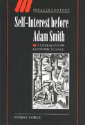 Self-Interest Before Adam Smith 0 9780521830607 0521830605