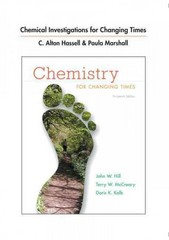 Chemical Investigations for Chemistry for Changing Times 13th Edition 9780321767790 0321767799