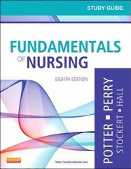 Study Guide for Fundamentals of Nursing 8th edition 9780323084697 0323084699