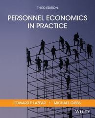 Personnel Economics in Practice 3rd Edition 9781118918753 1118918754