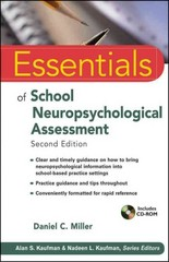 Essentials of School Neuropsychological Assessment 2nd Edition 9781118175842 1118175840