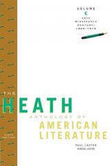 The Heath Anthology of American Literature 6th edition 9780547207827 0547207824