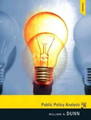 Public Policy Analysis 5th edition 9780205252572 0205252575
