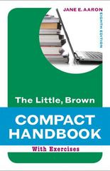 The Little, Brown Compact Handbook with Exercises 8th Edition 9780205217519 0205217516
