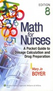 Math for Nurses 8th Edition 9781609136802 1609136802