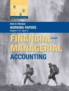 Working Papers, Volume 1, to accompany Weygandt Financial and Managerial Accounting 1st Edition 9781118233467 1118233468
