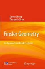 Finsler Geometry 1st edition 9783642248870 364224887X